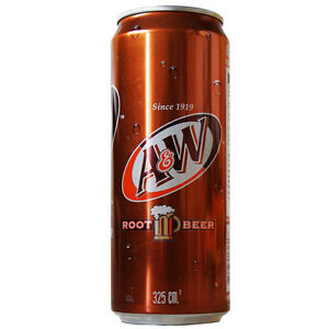 A&W ROOT BEER - 24 X 325ml CANS