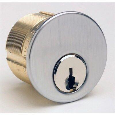 Ilco Brass Mortise Cylinder 7205sc1-26d-kd Sc Keyway 5 Pin Satin Chrome 2 Keys