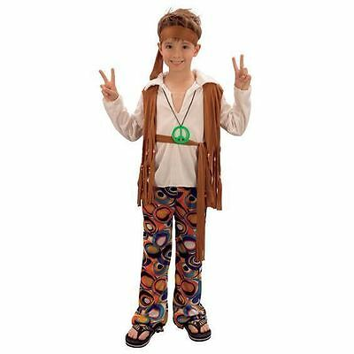 70s Costumes For Boys (BOYS HIPPIE HIPPY 60'S 70'S FANCY DRESS)