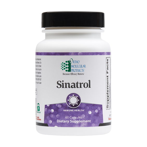 NEW* Ortho Molecular Products SINATROL Immune Health 60 ct 3/22