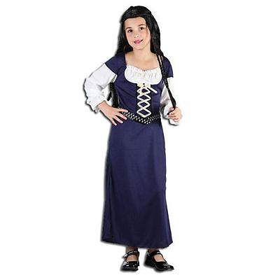 GIRLS MAID MARIAN MARION MEDIEVAL TUDOR FANCY DRESS COSTUME (Maid Dress)