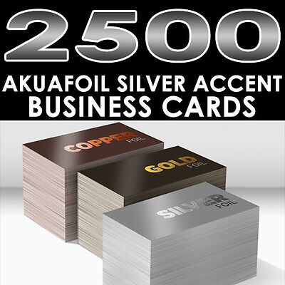 Personalized silver foil accent 2500 full color glossy akuafoil personalized silver foil accent 2500 full color glossy akuafoil business cards colourmoves