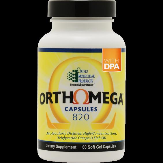 Ortho Molecular ORTHOMEGA 820 60count Softgel Capsules Omega 3 Fish Oil