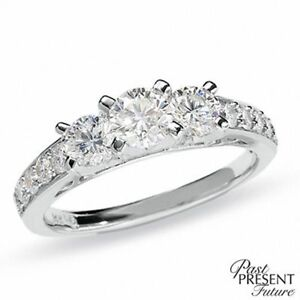 1.20ct TW 14k WG people's engagement ring