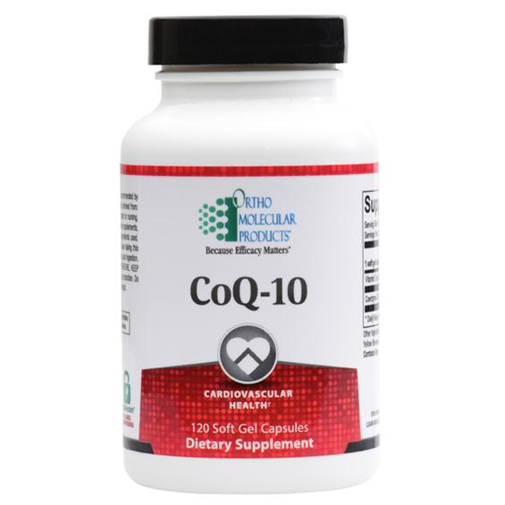Ortho Molecular -CoQ-10 Cardiovascular Health -120 capsules