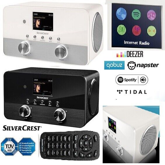 Silvercrest SIRD 14 C1 W-Lan 4 in 1 Stereo Internet Radio DAB+ Smart Audio NEU