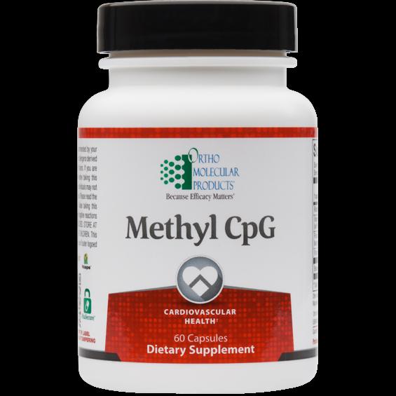 METHYL CpG Ortho Molecular Cardiovascular Health 60capsules PROMOTES DNA REPAIR