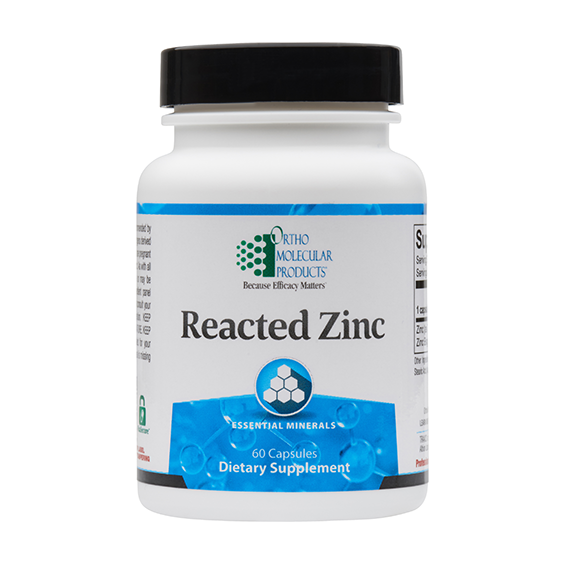Ortho Molecular- Reacted Zinc -60 capsules