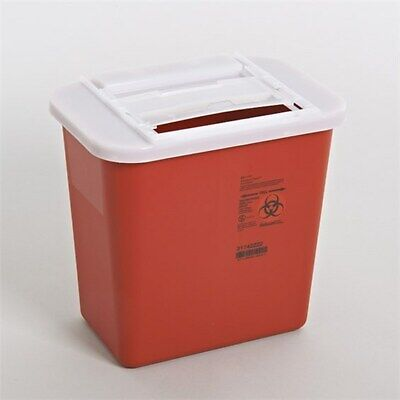 5 Pack 2 Gallon Sharps Needle Disposal Container Lid Doctor Tattoo Sharp 2 Gal