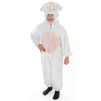 Childrens Sheep Costumes (CHILDRENS CHILD SHEEP LAMB ALL IN ONE FANCY DRESS)