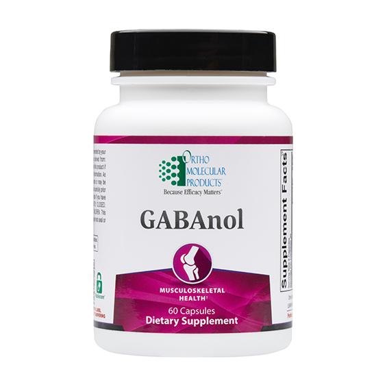 Ortho Molecular - GABAnol- 60 capsules 06/21