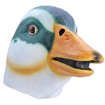 Elegantes Gummi Ente Stockente Maske Overhead Kostüm Vogel Tier - Overhead Latex Maske Kostüm