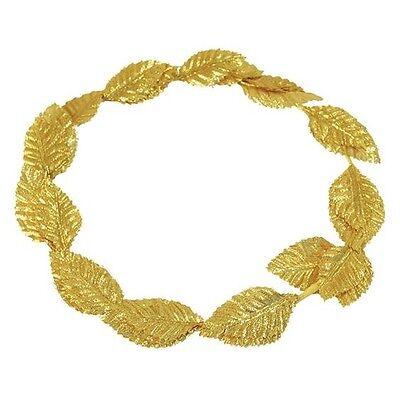 Deluxe Gold Leaf Roman Greek Goddess Laurel Wreath Toga Fancy Dress Costume