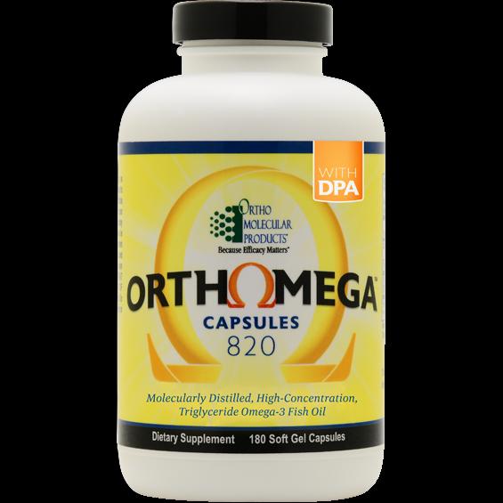 Ortho Molecular ORTHOMEGA 820 180count Softgel Capsules Omega 3 Fish Oil