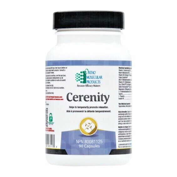 Ortho Molecular Cerenity 90 Capsules Free expedited shipping