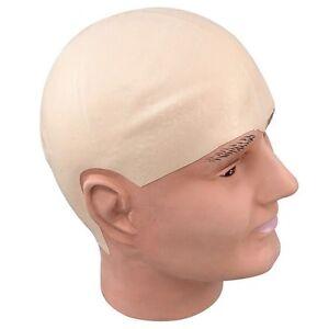 BALD HEAD WIG Latex Rubber Skinhead Cap Dr Evil Clown Kojak Fancy Dress