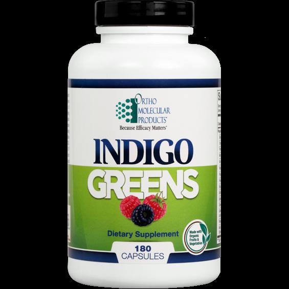Ortho Molecular- Indigo Greens-180 capsules