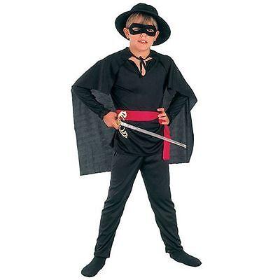 BOYS ZORRO MASKED BANDIT FANCY DRESS COSTUME - Zorro Dress
