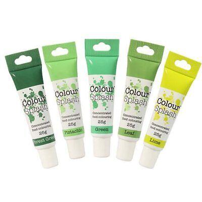 Colour Splash Colorante Alimentario Verde Gel Juego 5pc