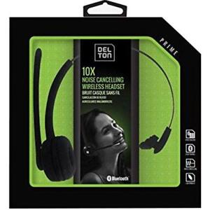 Delton Over-The-Head Noise Canceling Bluetooth Headset, Black - BRAND NEW SEALED