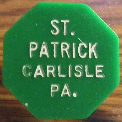 1967 St. Patrick Carlisle, PA 10c Transit Bus Token - Pennsylvania Penn.