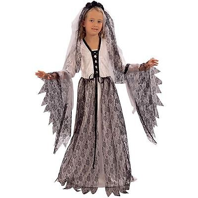 Girls Halloween Ghost Bride Medieval Costume Fancy Dress Ghost Outfit New 11-13