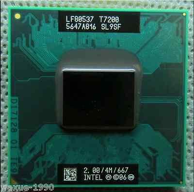 Intel Core 2 Duo T7200 2.0GHz /4MB Dual-Core Processor Socket M free shipping