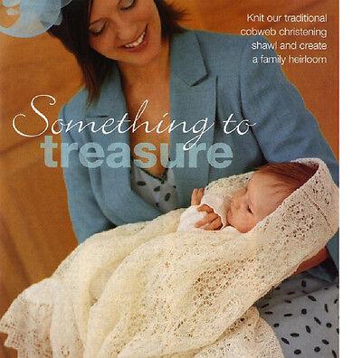 Shetland Lace Shawl (Traditional Shetland Cobweb Lace Baby Christening Shawl ~ 1ply Knitting)