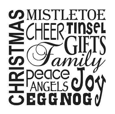 Christmas Holiday STENCIL 12x12 Mistletoe Family Angels for signs crafts