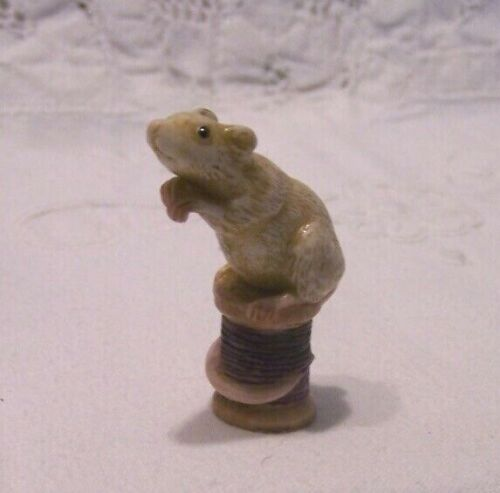 Harmony Kingdom Neil Eyre Mouse Miniature LE Sewing Spool Signd Numbrd Mice NOS