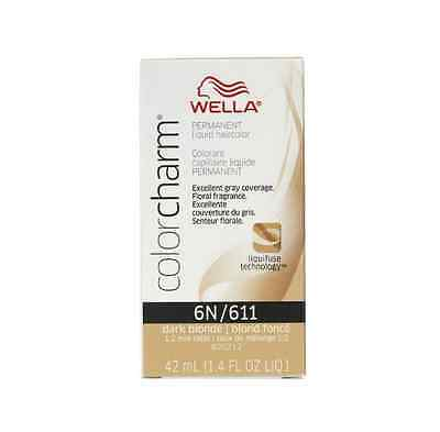 - Wella Color Charm Liquid Haircolor 6n/611 Dark Blonde, 1.4 oz (Pack of 4)
