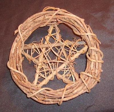 "Wonderful 18"" Wicca Pagan Grapevine Pentacle Wreath"