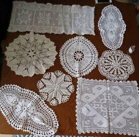 Authentic handmade crochet serviettes.