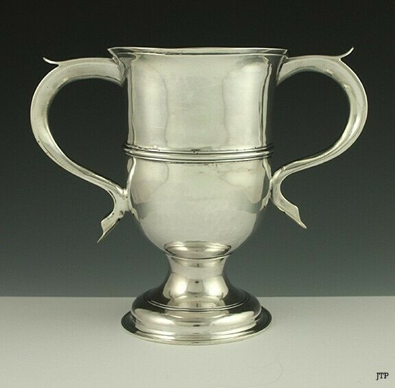 Antique 1776 English Georgian Sterling Silver Trophy Loving Cup Goblet