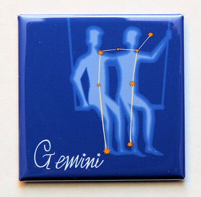 Gemini Twins Symbol (Gemini Zodiac Symbol - Square Magnet 2