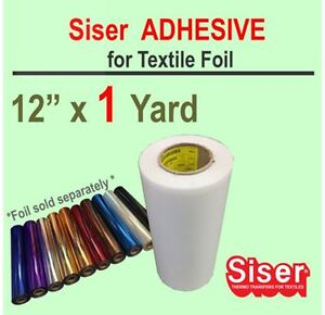 Siser EasyWeed Adhesive 12X1 Yard w/Option Foil Silhouette cameo