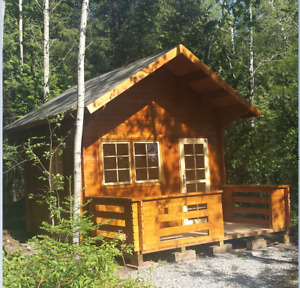 Log Bunkies /Cabins / Sheds Kits  No Permit Required