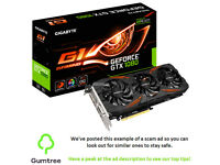 Gigabyte G1 GTX 1080 8GB -- Read the ad description before replying!!