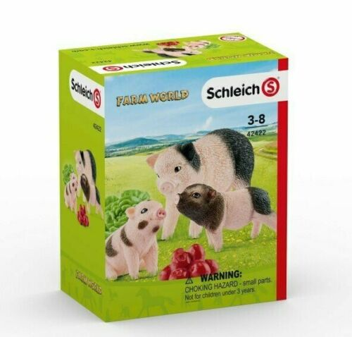 <><  Miniature pig and piglets set 42422 Schleich Anywhere