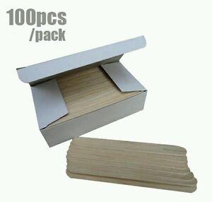 Wooden Waxing Spatula Tongue Depressor Tattoo Wax  applicator Sticks x 100