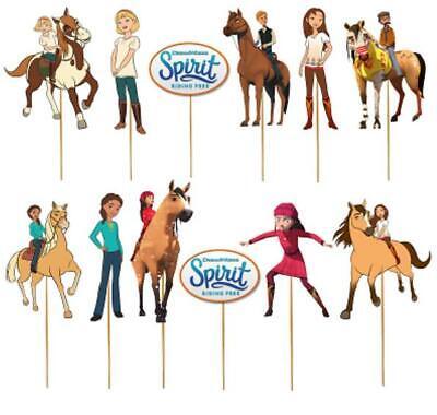 SPIRIT RIDING FREE HORSE CUPCAKE CAKE TOPPER party balloon decoration supplies
