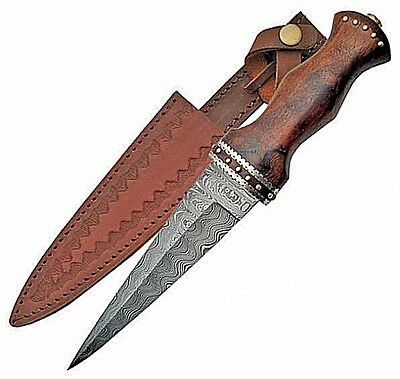 Damascus Athame Dagger w/ Rosewood Handle Wicca Pagan Ritual Ceremonial Magick