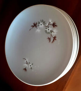 4 Place Setting Mid Century 50's Royal Doulton Frost Pine Dishes
