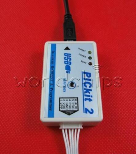 New Microchip PIC Emulator PICKit2 Debugger Programmer+USB Cable in Protect Case
