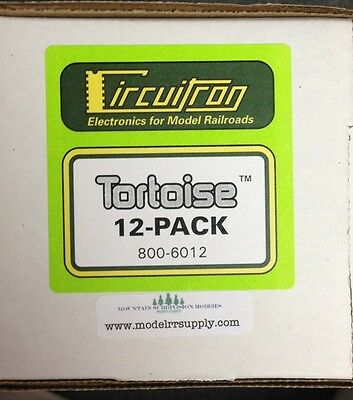 CIRCUITRON 6012 12-PK Tortoise Switch Machine Slow-Motion Turnouts MODELRRSUPPLY