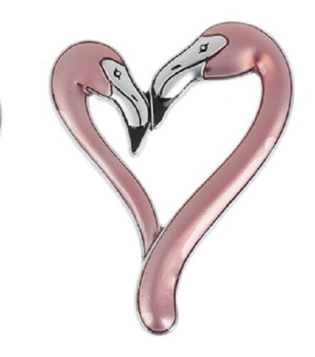 Ganz You Are Flamazing FLAMINGO Heart Shape Charm w/Story Poem Card (L)