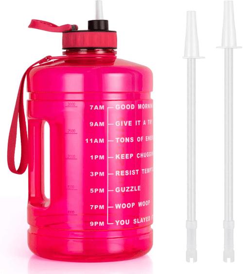 1 Gallon Water Bottle, BPA Free, Large Leakproof Fitness Spo