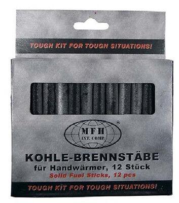 12 Kohle Brennstäbe Kohlebrennstab Brennstäbchen für Handwärmer Taschenwärmer