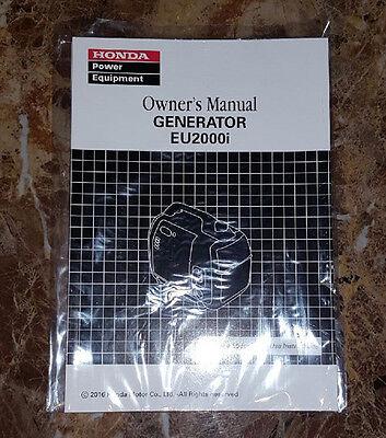 HONDA EU2000i generator owners manual - BRAND NEW!