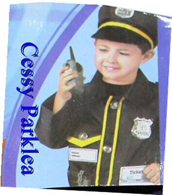 M4-1 Police Man Cops Uniform Kids Boys Halloween Costume Hat Halkie-Talkie 3-7 - Costumes 4 U